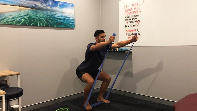 Resistance Band Squat Exercise